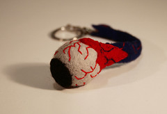 Eyeball Keyring (i make my own friends (littlepieces)) Tags: toy geek handmade felt plush eyeball anatomy plushie horror custom splatter gory keying imakemyownfriends