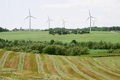 Wethersfield Windmills (rochpaul5) Tags: windmill wethersfield wyoming energy power megawatts hay farm barn silo green future electricity clean field watts planet corn ny new york turbine ge stripe arcade warsaw nimby kodacolor film kodak minolta scan
