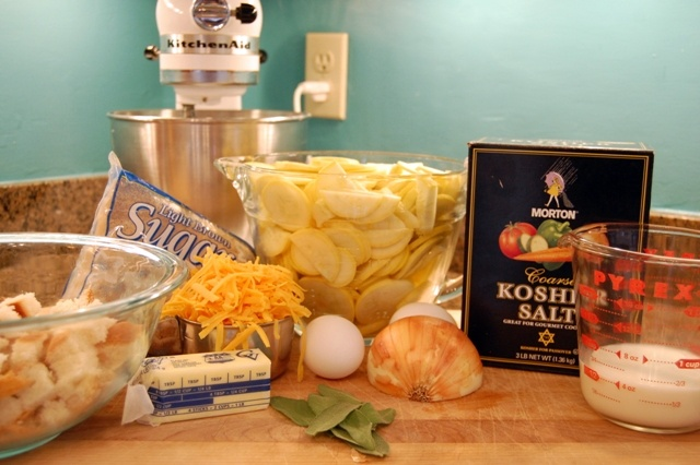 cheddar squash strata ingredients