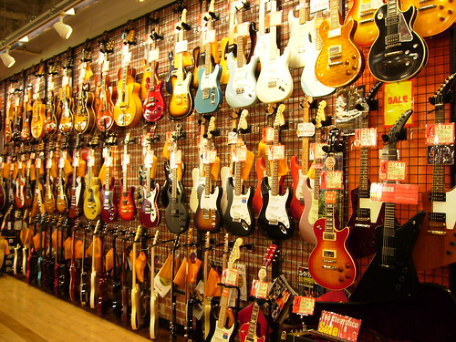 Guitar shop in Osaka