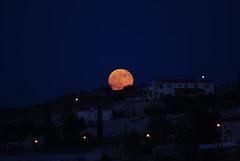 August Full Moon Rising (George M. Groutas) Tags: sky sun moon nightshot cyprus nightsky moonrising moonillusion idalion πανσέληνοσ αυγουστιάτικοφεγγάρι