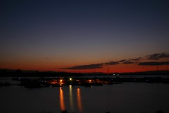 sunset1 (Tom Herlyck) Tags: sunset sky lake boats lights colorado pueblo puebloreservoir