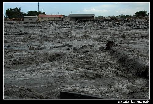 莫拉克造成重大的八八水災;攝影:munch