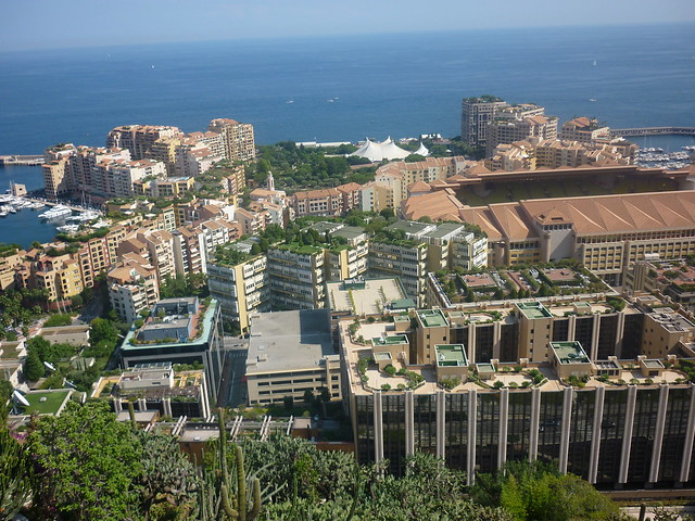 monaco rooftops, from jardin exotique