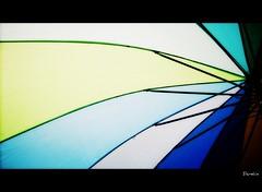 I painted the colors I saw...[Explored 184] (D a r s h i) Tags: blue light white color water colors rain yellow umbrella rainbow monsoon pune barish darshi krishlikesit chaata darshita