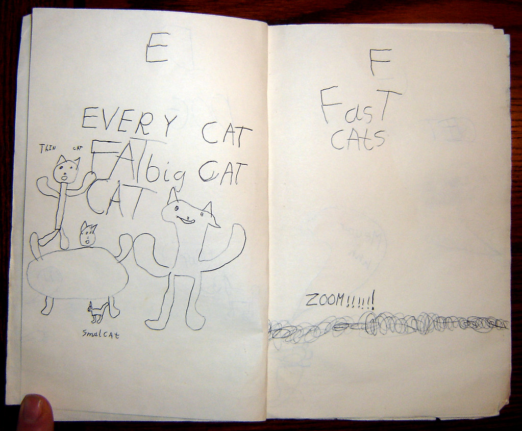ABC book of cats E and F