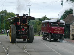 Passing Steamers (Terry Pinnegar Photography (2.5 million views!)) Tags: bus museum martha traction engine steam beamish winstonchurchill sentinel countydurham burrell 3909 showmens kg1123 nr965