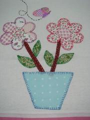 patchcolagem flores (*Sonhos em Retalhos*) Tags: patchwork cozinha florestecido patchcolagem panodeprato