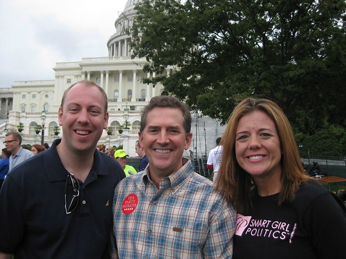 Matt and Rebecca with Jim DeMint after his speech.