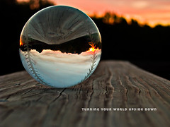 Turning Your Wold Upside Down (JGo9) Tags: wood sunset canon ball globe baseball crystal kentucky ky powershot deck s51s