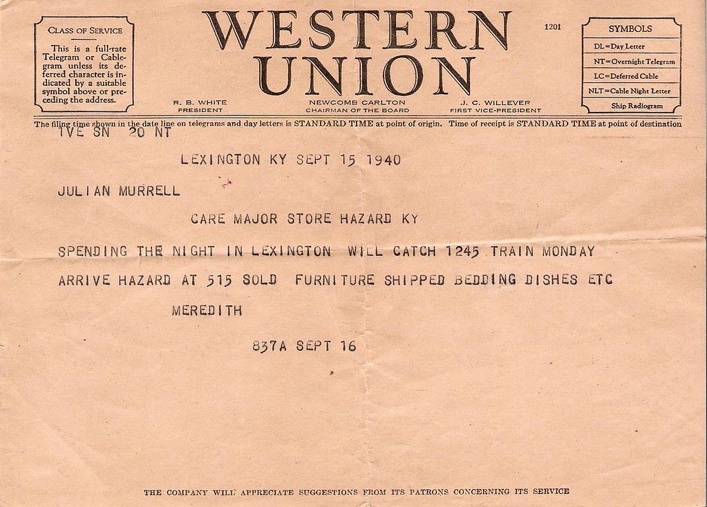 Telegram 1940