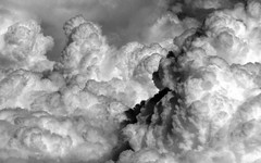 P1140498a (dmorgan910) Tags: blackandwhite bw france monochrome clouds aerial explore cumulus storms cloudscapes explored ls740