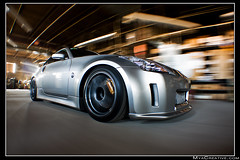 Greddy Twin Turbo Nissan 350z (jeremycliff) Tags: cliff chicago building canon japanese illinois track nissan garage fast twin jeremy turbo rig z tt tuner custom import 350z rolling jdm modded brembo greddy nissan350z advan jeremycliff myacreativecom turbo350z