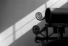 Machinery (Andrea Vismara (more off than on)) Tags: shadow blackandwhite bw abstract monochrome spiral monocromo diagonal biancoenero analogic pentaxmx abstractures analogicreflex artinbw pentaxiani lachesilab