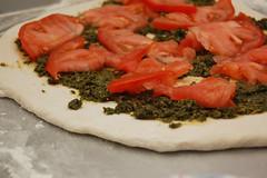 pesto and tomato