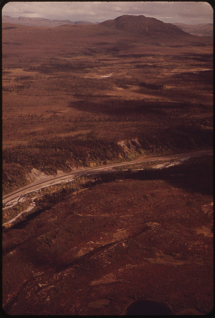 Typical Alpine Tundra near Mile 606 View Looks Southeast Across the Richardson Highway 081973 by The US National Archives