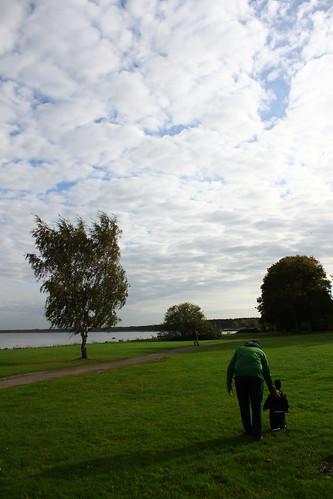 Promenad med farfar och farbror Fredrik