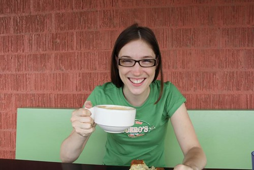 Tracie Laymon at Progress Coffee, by Debbie Cerda on Flickr