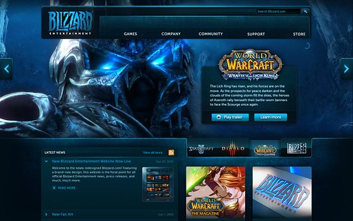 blizzard new homepage