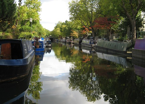 Looking down the canal