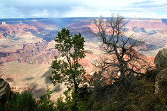 Grand Canyon (Mather Point) - 12 (lemoncat1) Tags: arizona sky usa mountains nature america river scenery unitedstates grandcanyon unitedstatesofamerica valley geology mather brightangel south point colorado rim