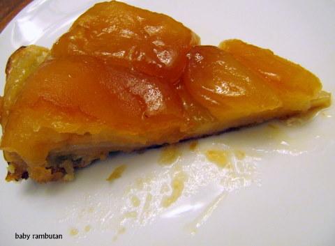 a slice of tarte Tatin