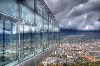 Bergisel Restaurant above Innsbruck Austria