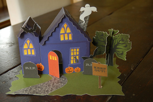 Paper Haunted House.