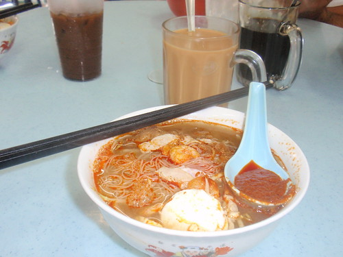 Fri. morning breakfast of Hokkien Mee