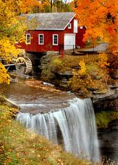 Morningstar Mill falls view (tonnycdl) Tags: autumn color fall texture mill falls historic morningstarmill