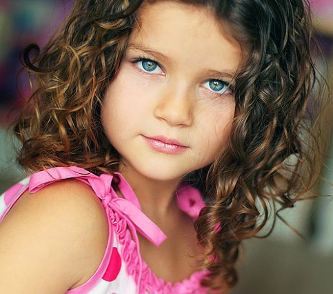 Short Hairstyles for Little Girls Curly Hair