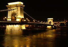 Chain Bridge (Faisal.Saeed) Tags: bridge night river hungary suspension budapest landmarks chain danube chainbridge