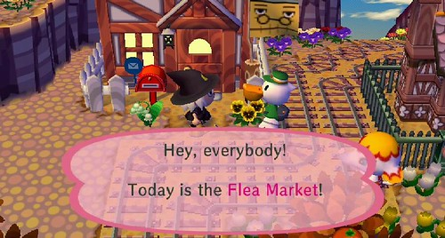 the flea market had just