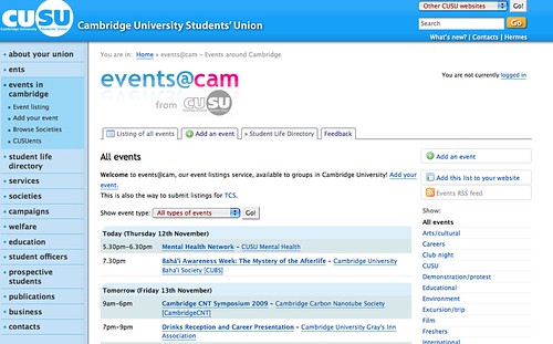 http://www.cusu.cam.ac.uk/events/