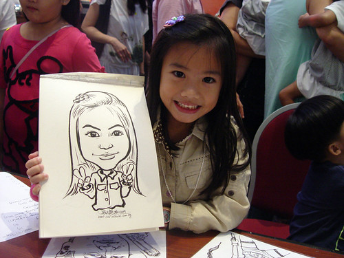 Caricature live sketching for Marina Square X'mas Tenants Gathering 2009 - 2