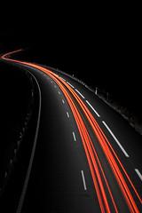 [フリー画像] [人工風景] [道の風景] [夜景] [テールランプ]       [フリー素材]