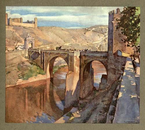 006- Puente de Alcantara en Toledo-An artista in Spain 1914- Michael Arthur C.