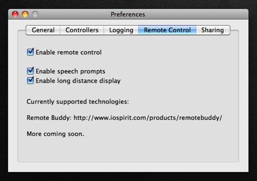Remote Control Preferences