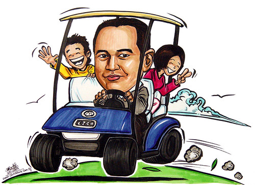 Caricature for Ministry of Home Affair