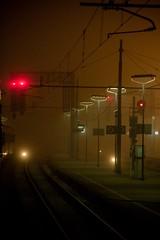 (.nientedipiu.) Tags: fog digital canon reflex digitale nebbia stazione treno notturna notte luska canoneos40d gianluska nientedipiu
