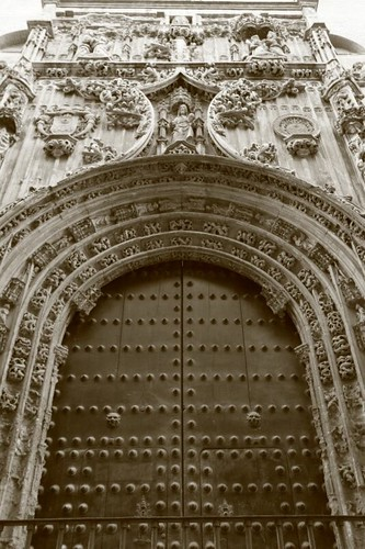 Door on Málaga Cathedral...