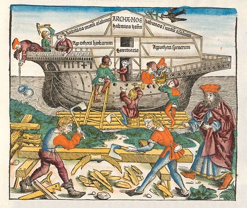 Noah's Ark - Nuremburg Chronicle 15th century - (p.92)