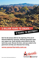 Save Arkaroola - Australian 12-12-09 - click for the savearkaroola.com.au website