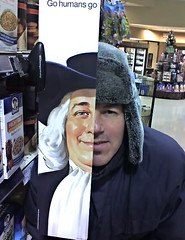 Half Human (Tomitheos) Tags: portrait flickr avatar picture optical pic daily photograph genealogy fatherandson beforeandafter capture now today aging quakeroats 2009 ancestry pilgrim winterwear youngandold stockphotography yongeandeglinton picturingthemale streetstyle thehumancondition halfhuman 021201 greatwalloffaces 122109 122209 december2009 quakerman everydaymalemodels bytomitheos gohumansgo instaxwindows markjam