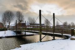 Wittewerf bridge (KennethVerburg.nl) Tags: christmas winter white snow holland netherlands dutch sneeuw nederland wit flevoland almere almerehaven