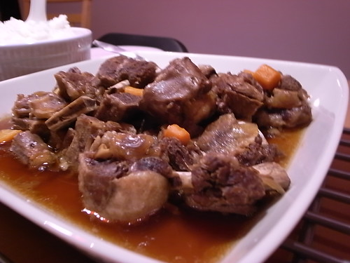 Braised ox tail and ribs