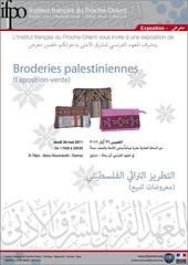 Broderies palestiniennes (exposition-vente, Damas, 26 mai 2011