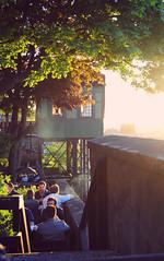 Spring scenes (One life together with me and it's magic) Tags: light sunset sun primavera sol de spring do sweden stockholm terrace balcony prdosol sverige resturant scenes por suecia cenas terrao