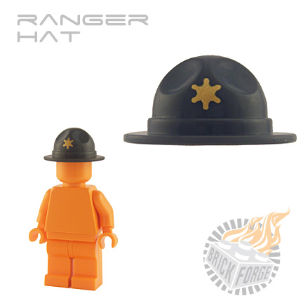 Ranger Hat - Dark Blueish Gray (gold Star print)