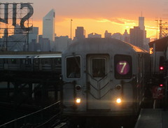 7 Train Pulling into Queensborough Plaza during Summer Sunset - LIC Queens NYC (ChrisGoldNY) Tags: city nyc newyorkcity sunset summer urban usa newyork skyline america canon subway poster forsale powershot queens posters albumcover pointandshoot lic gothamist bookcover longislandcity bookcovers 7train subways albumcovers queensborough silvercupstudios qns queensboroughplaza nonslr challengewinners thechallengefactory chrisgoldny chrisgoldberg chrisgold chrisgoldphoto chrisgoldphotos